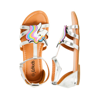 cute and adorable kids unicorn sandals
