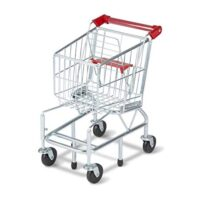 Shopping Cart with Sturdy Metal Frame