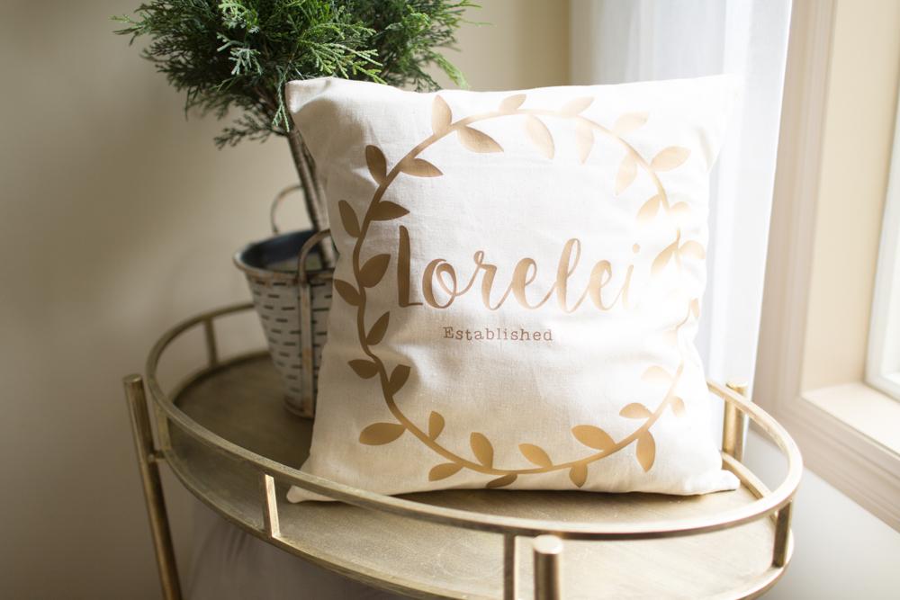 DIY Baby Name Pillow Tutorial