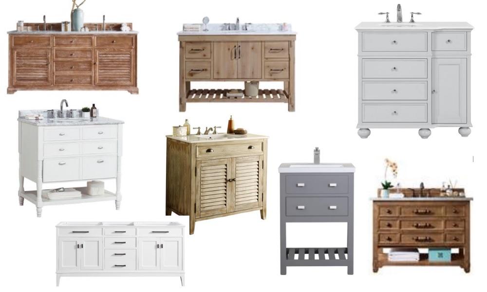 Modern Farmhouse Bathroom Vanities - Ideas and Sources