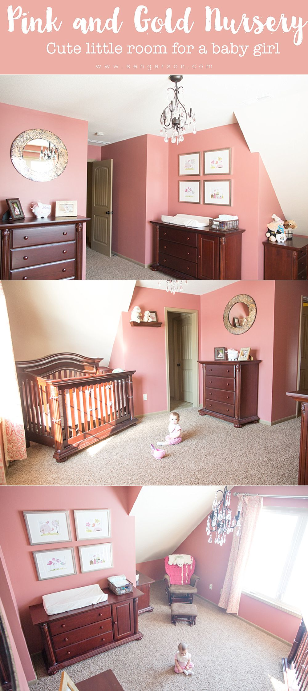 beautiful pink baby girl nursery