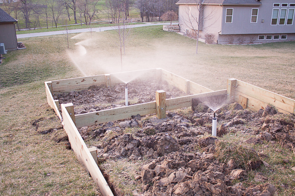 DIY sprinkler system for garden