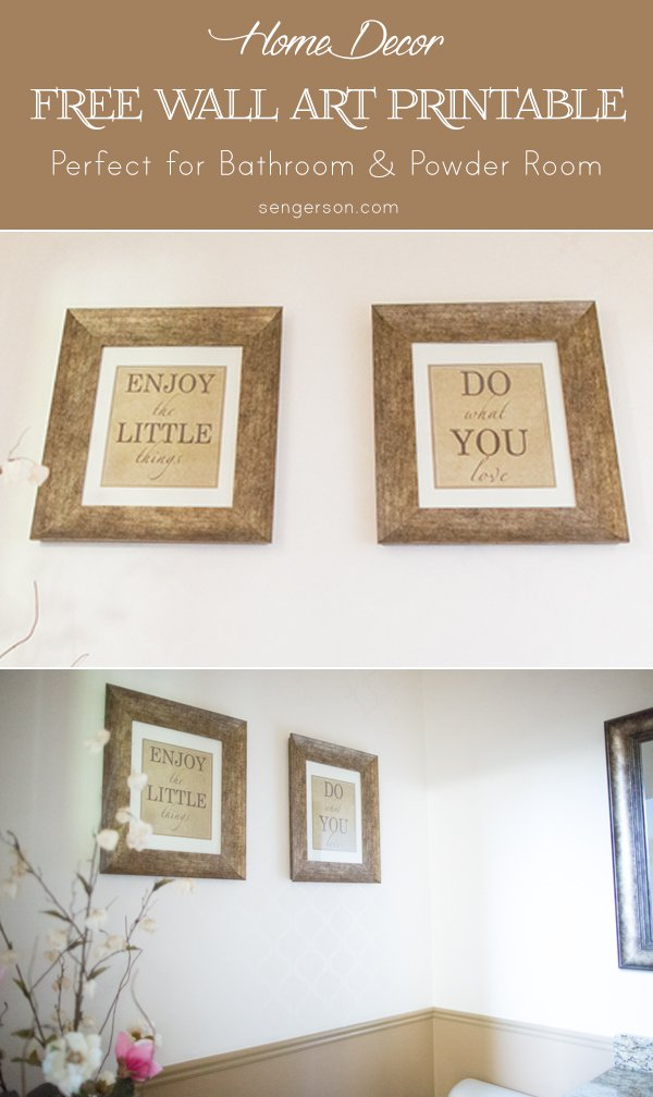free printable wall art for bathroom or powder room