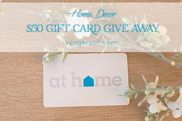 At Home Decor Give Away