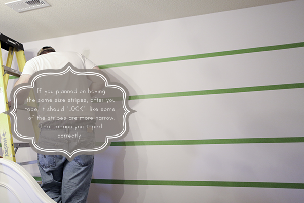 paint wall stripes with tips on how to create crisp lines