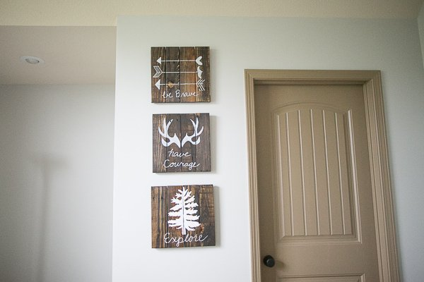Diy Wall Decor Ideas Nursery : Diy rustic woodland boy nursery decor