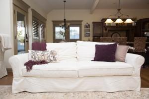 Pottery Barn Grand Sofa In White