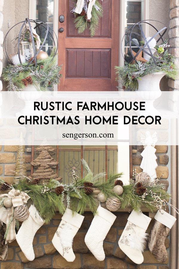 Rustic Christmas Decorating Ideas.2019 Farmhouse Christmas Holiday Decor Ideas With Sources