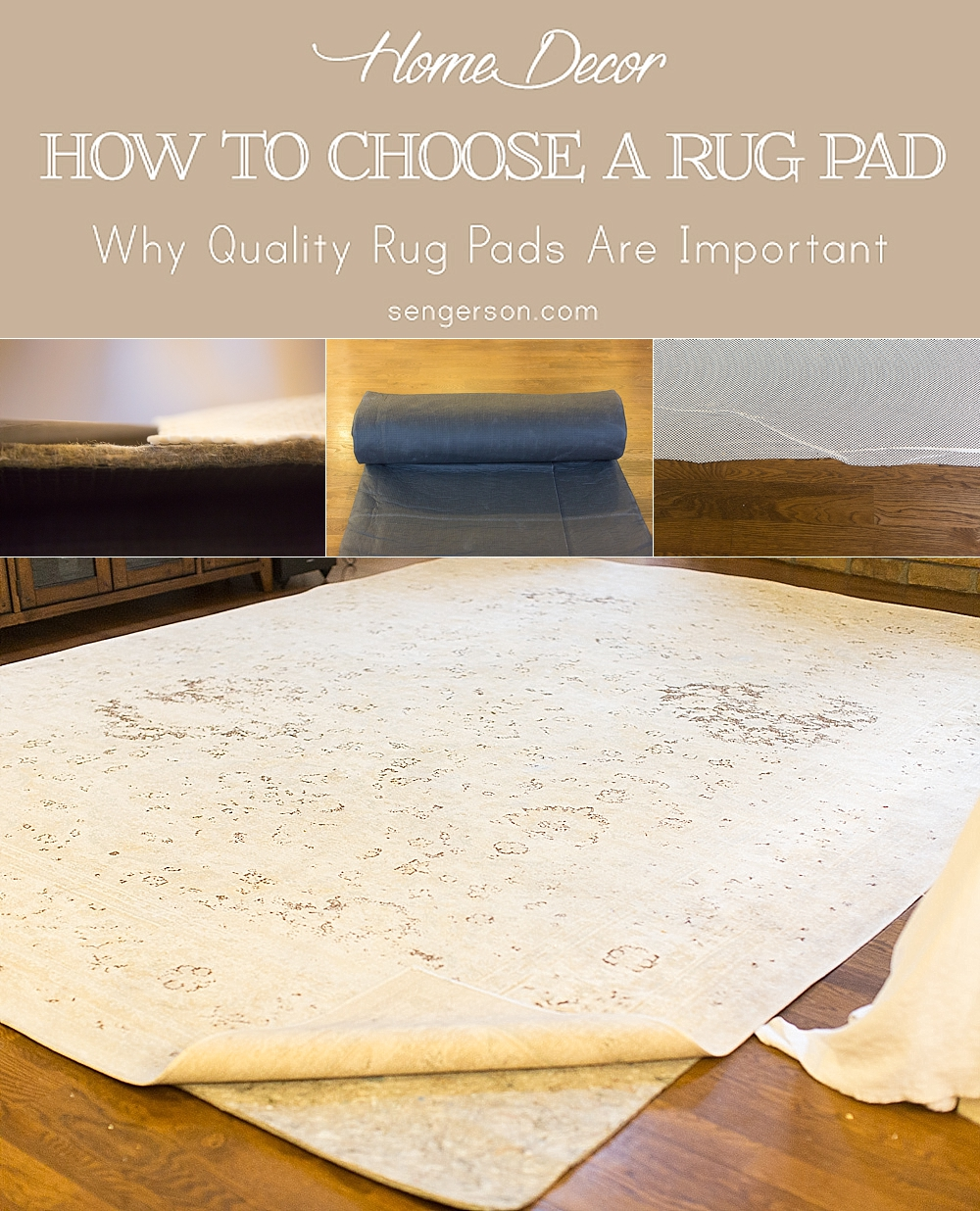how to choose a quality rug pad