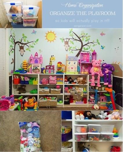 organize the playroom