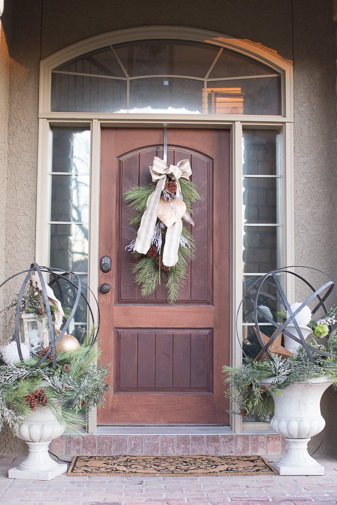 rustic luxe christmas entry
