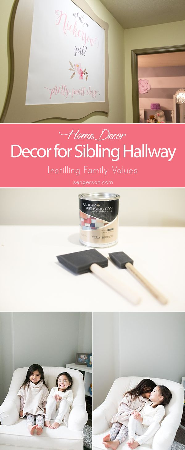 wall art inspiration for sisters hallway and siblings sharing a room