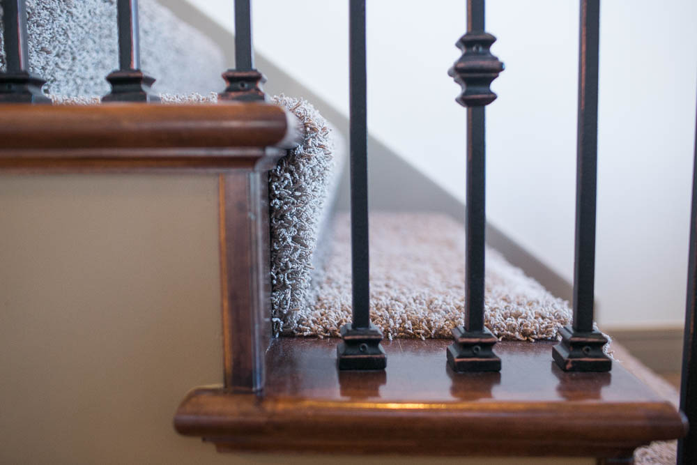 Tips on renovating your staircase into Hollywood carpet stairs featured by top US lifestyle blogger, Sengerson: staircase stairway renovation tips diy