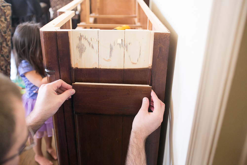 diy dresser into buffet 0006