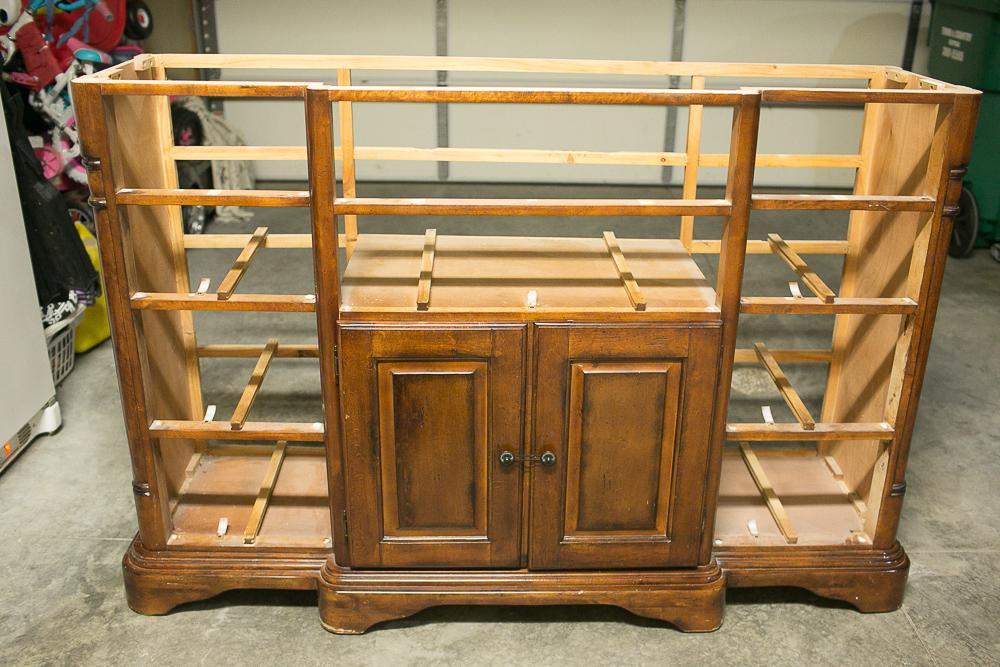 diy dresser into buffet 0007