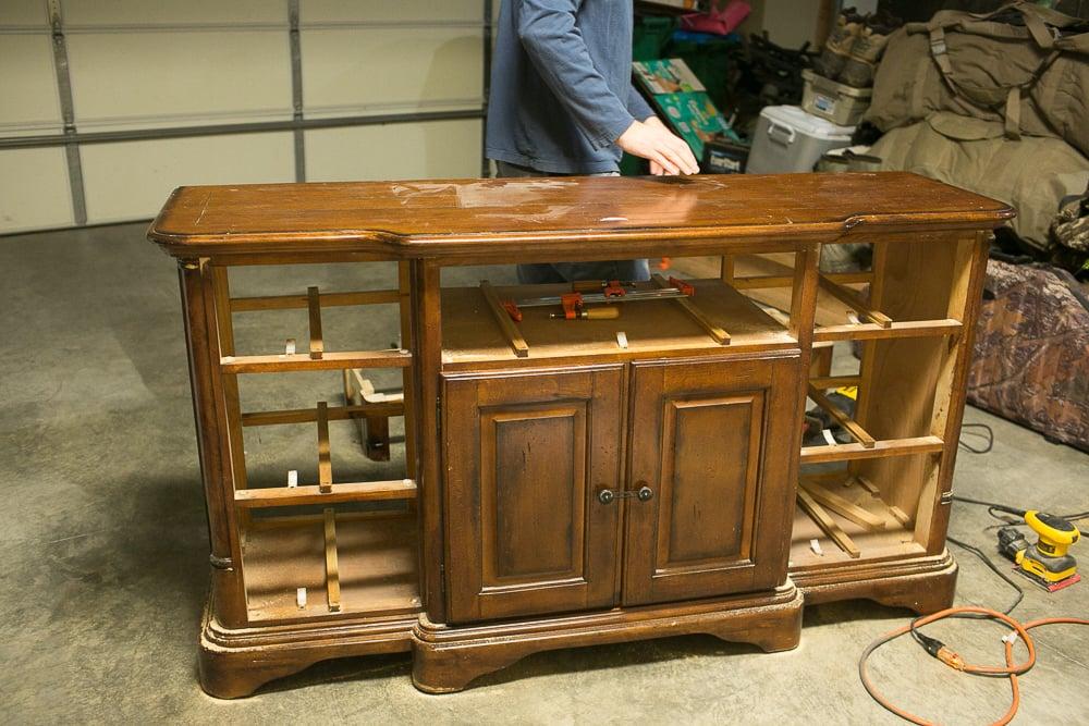 diy dresser into buffet 0016