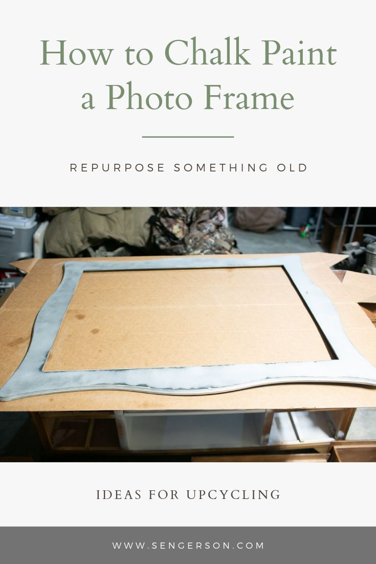 easy way to chalk paint a picture frame