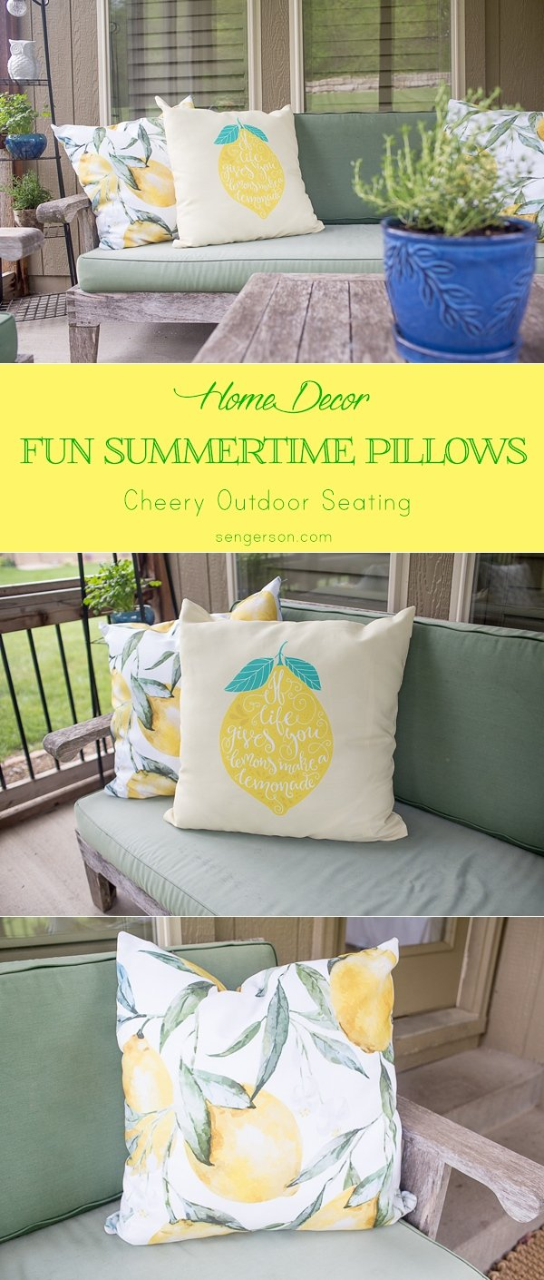 summertime decorating with pillows