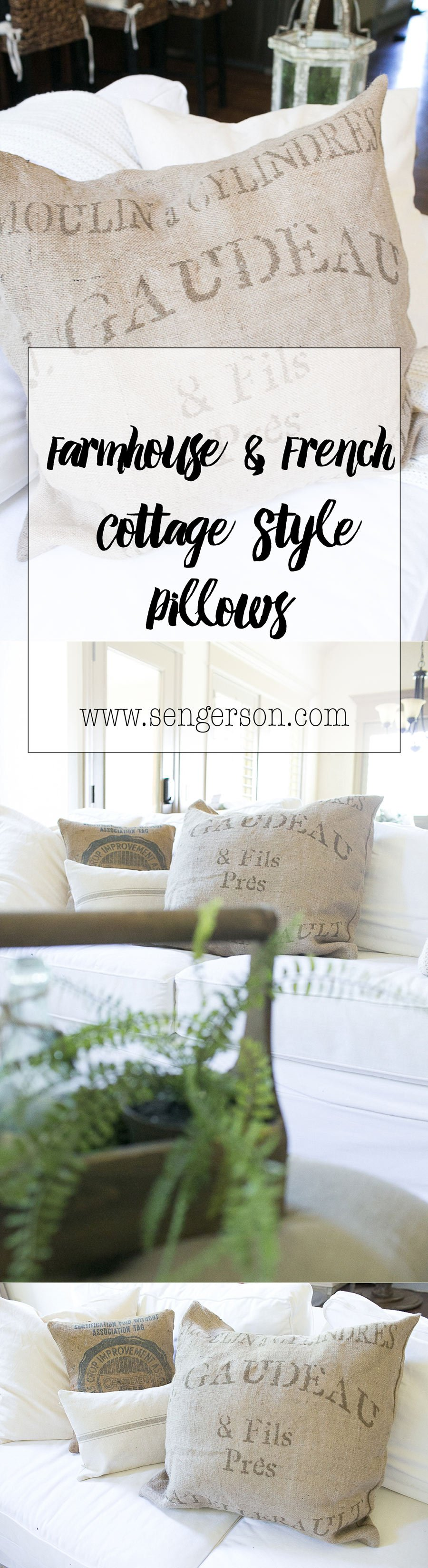 farmhouse style pillows french cottage