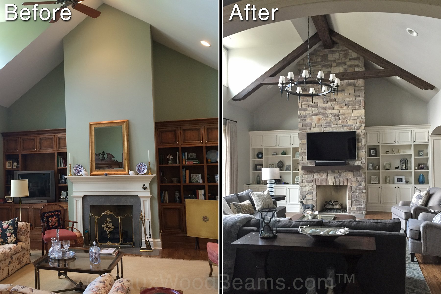 Image of: Faux Wood Beam Ideas For Vaulted Ceilings
