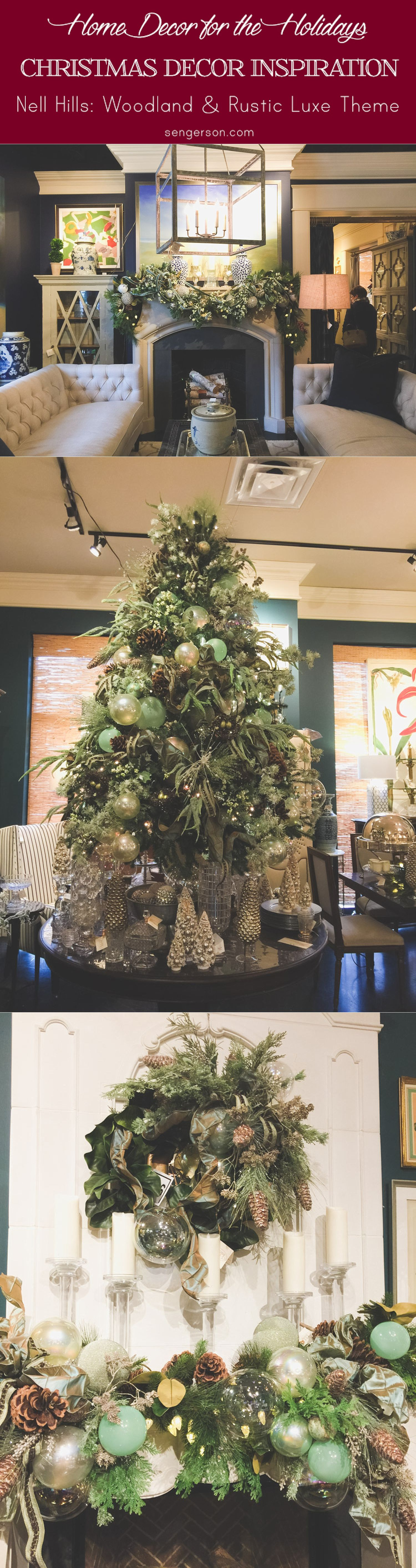 Christmas Decor Inspiration from Nell HIlls - rustic luxe with glam.
