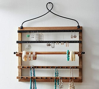 rustic jewelry holder farmhouse