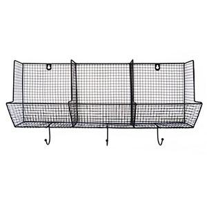 wire basket with hooks farmhouse