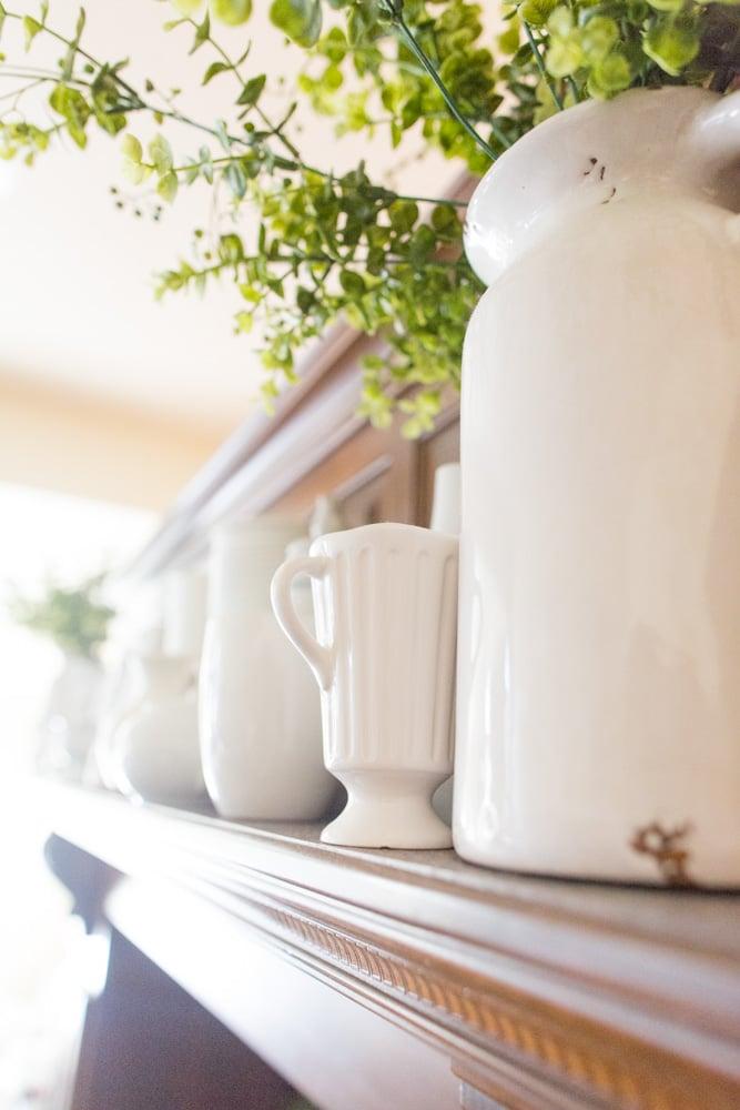 farmhouse pitcher vase decor