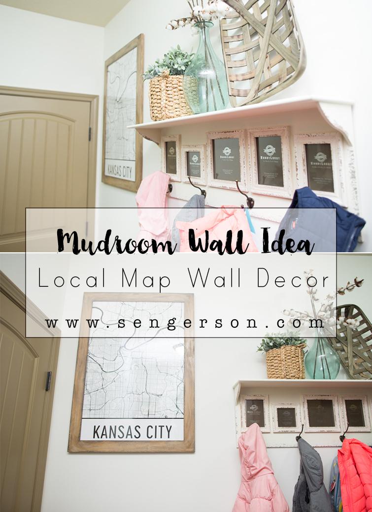 Mudroom laundry room map decor idea - Laundry room wall decor ...