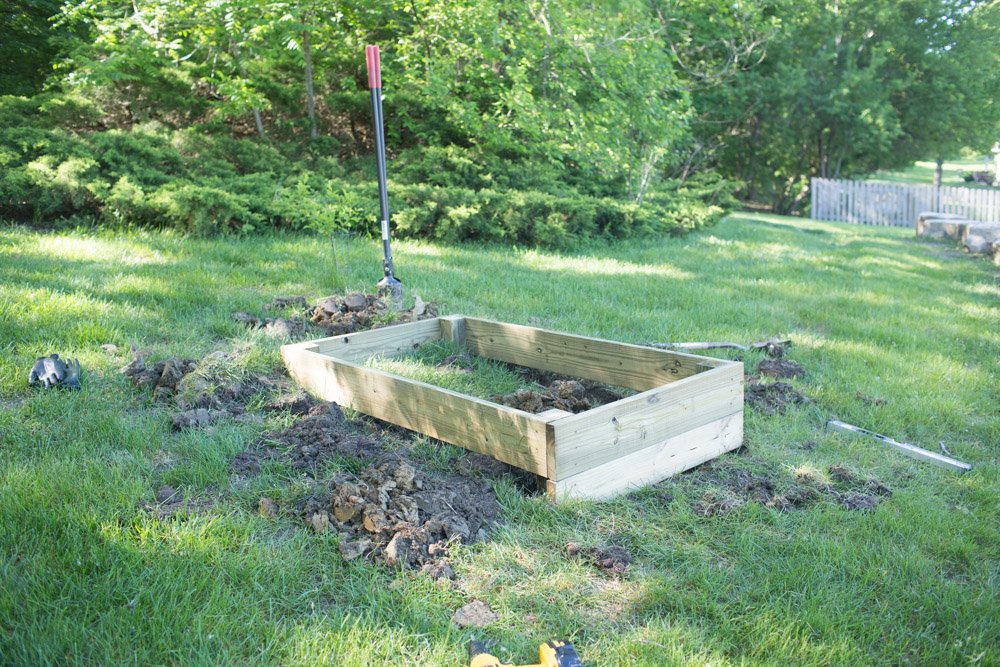 diy cold frame foundation