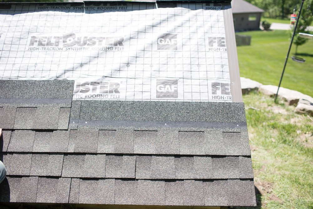 cold frame shingles installation