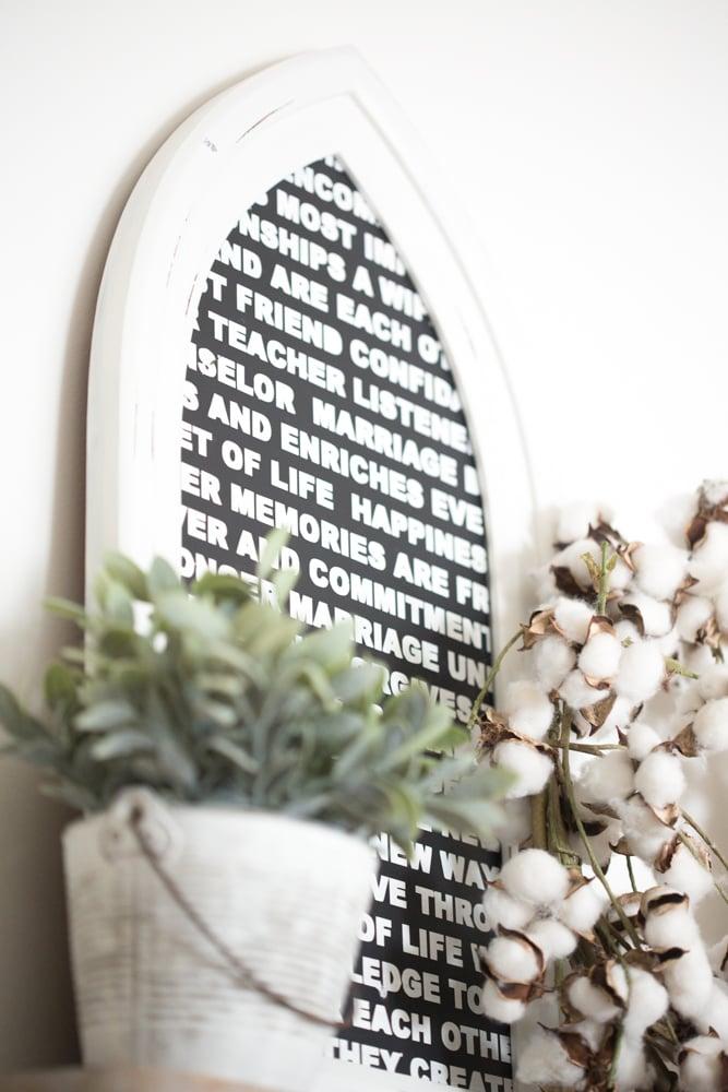 framed wedding vow ideas