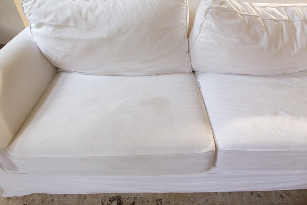 white slipcovered sofa, white couch covers, slip cover sofas