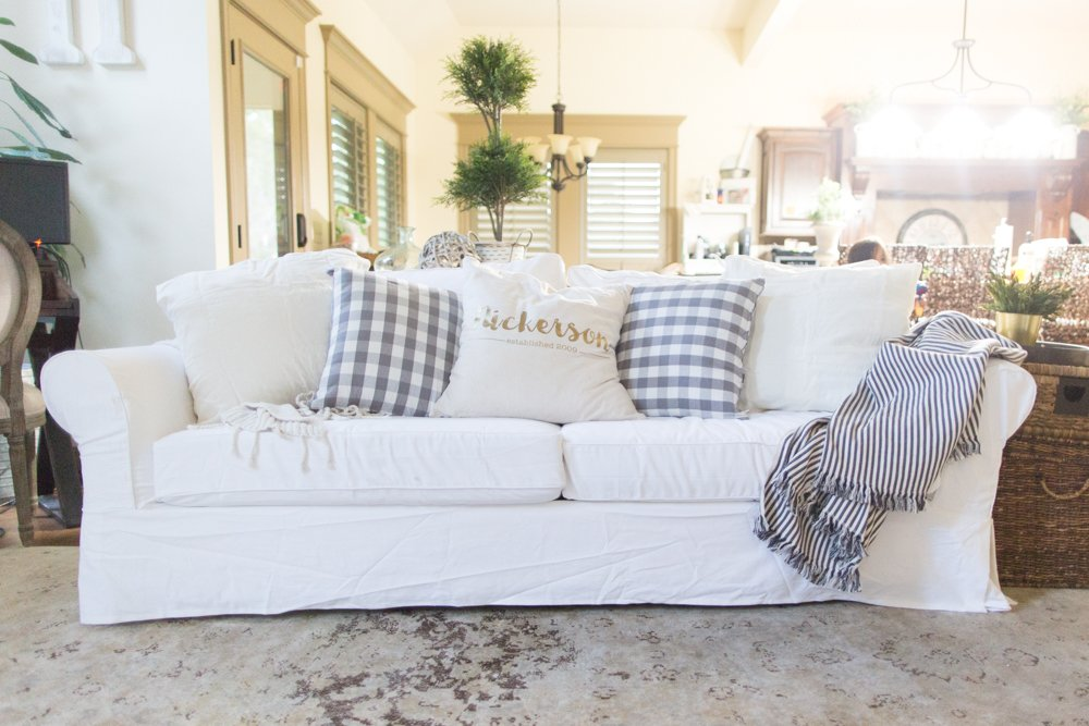 The Ultimate Truth About Owning White Slipcovered Couch Sofa with Four Kids
