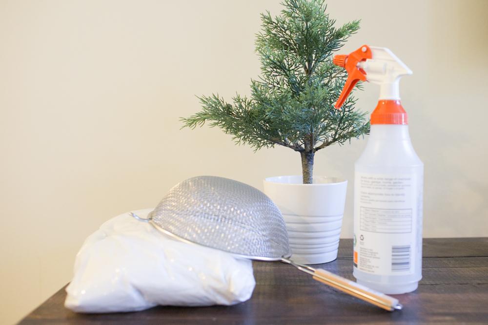 add snow to christmas tree