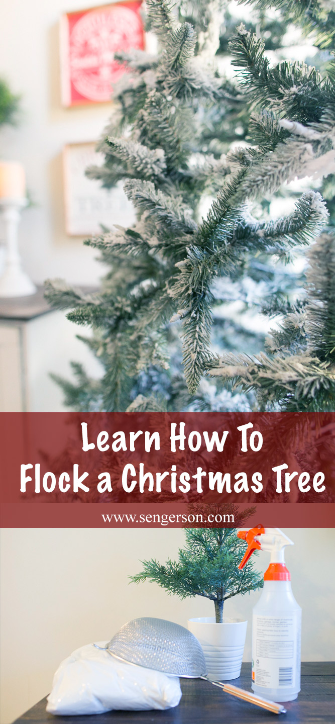 learn how to flock a christmas tree