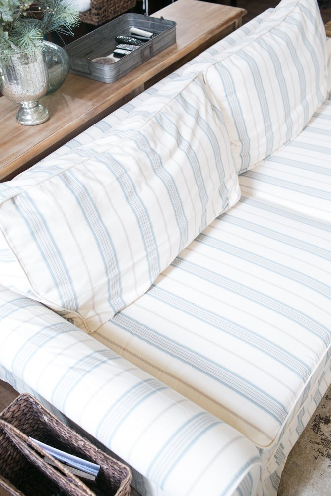 custom made slipcovers with stripes for any sofa