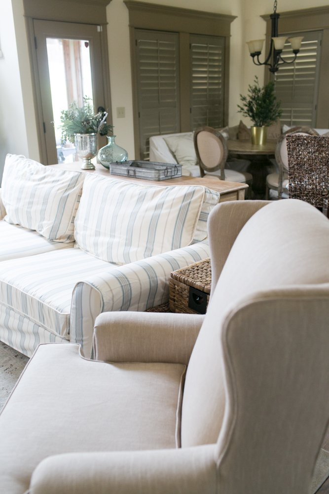 Fabulous Custom Pottery Barn Slipcover Gmtry Best Dining Table And Chair Ideas Images Gmtryco