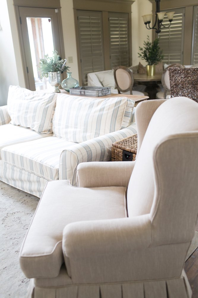 Tremendous Custom Pottery Barn Slipcover Onthecornerstone Fun Painted Chair Ideas Images Onthecornerstoneorg
