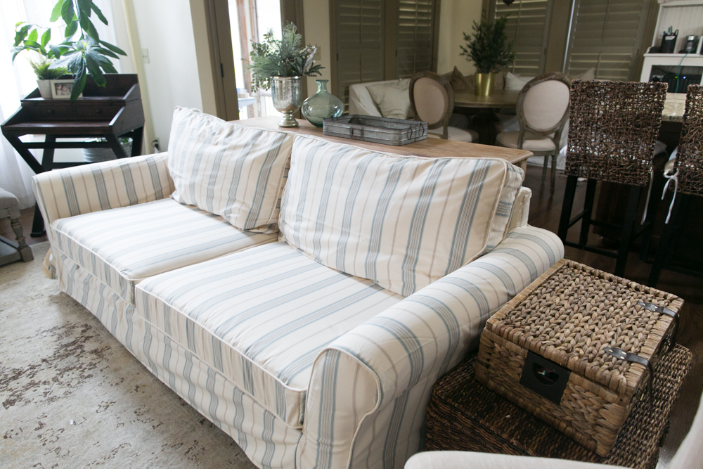 Custom Pottery Barn Slipcover Makeover ...