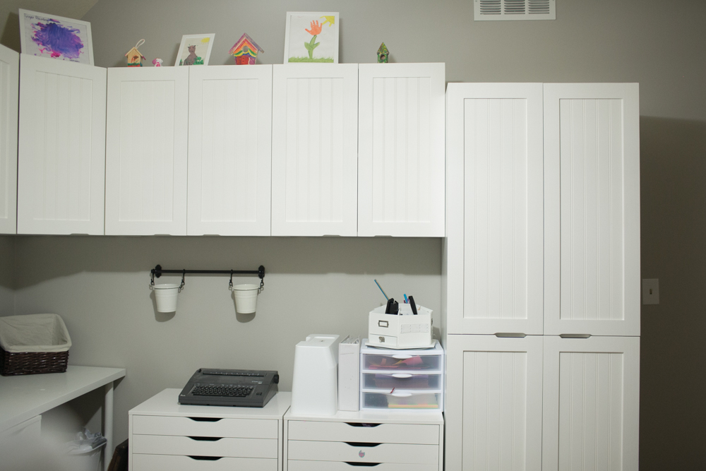 white dove on cabinets