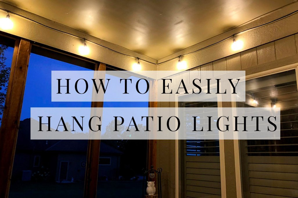 How to Hang String Lights on Covered Patio or Deck featured by top US DIY blogger, Sengerson