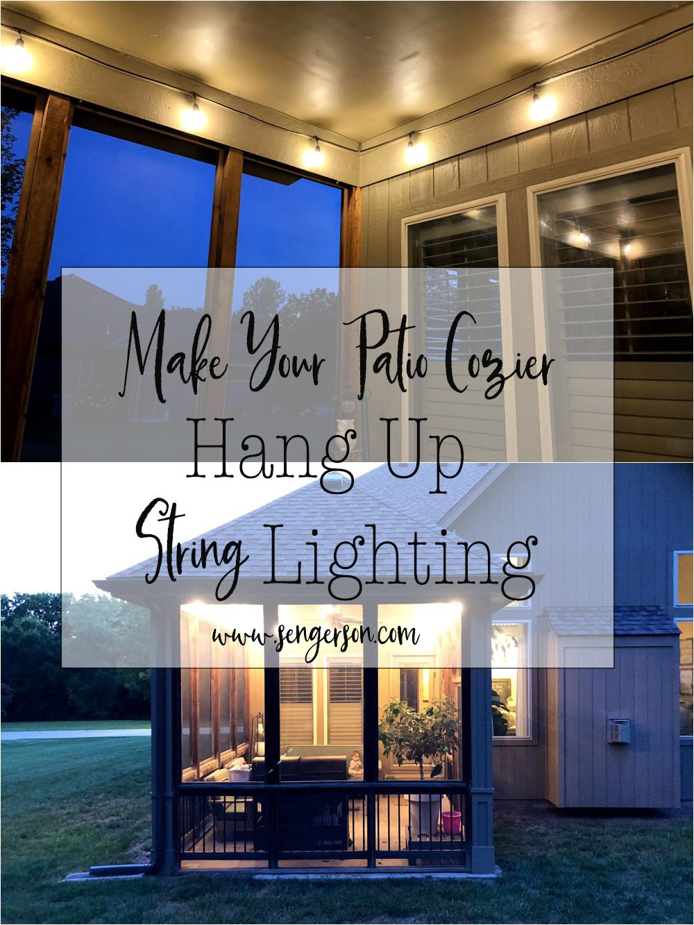 Considerations when hanging stright lighting outside as an extension to your living space