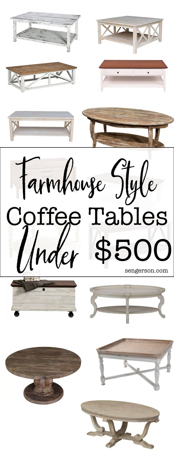 This is a collection of the cutest farmhouse style coffee tables if you are on a budget! Great collection.