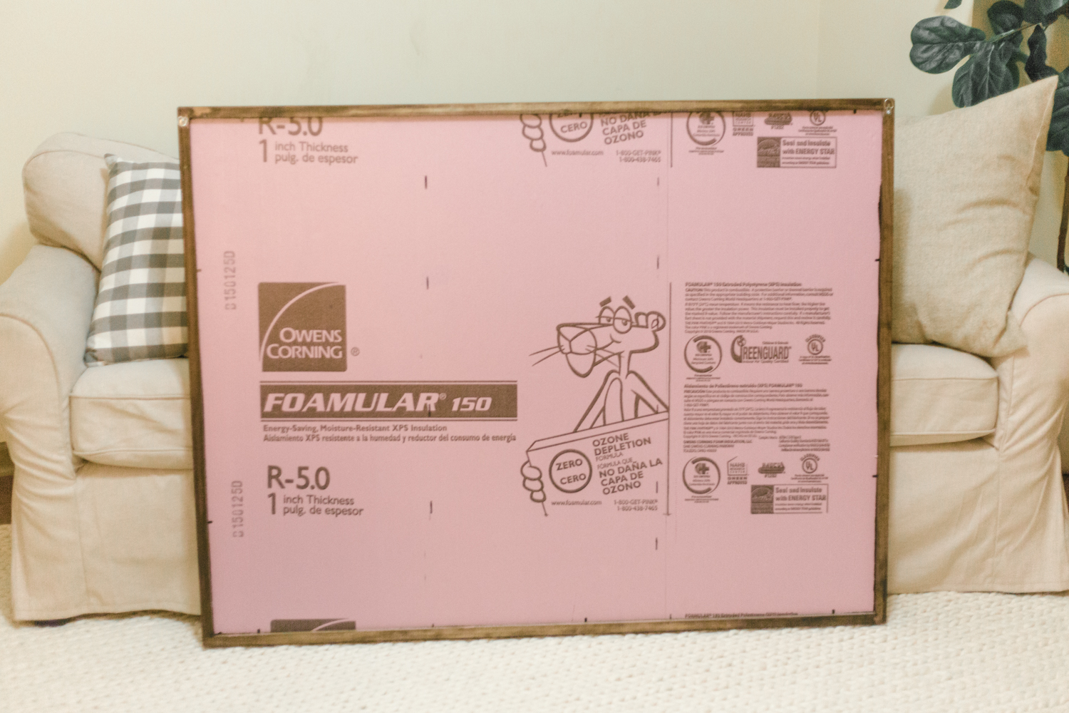 using insulation for a mounting board