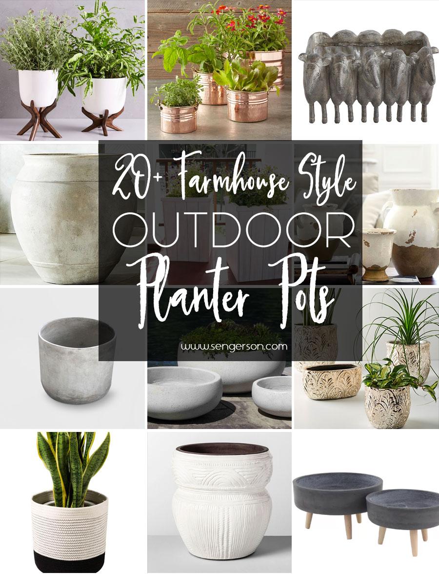 modern pots