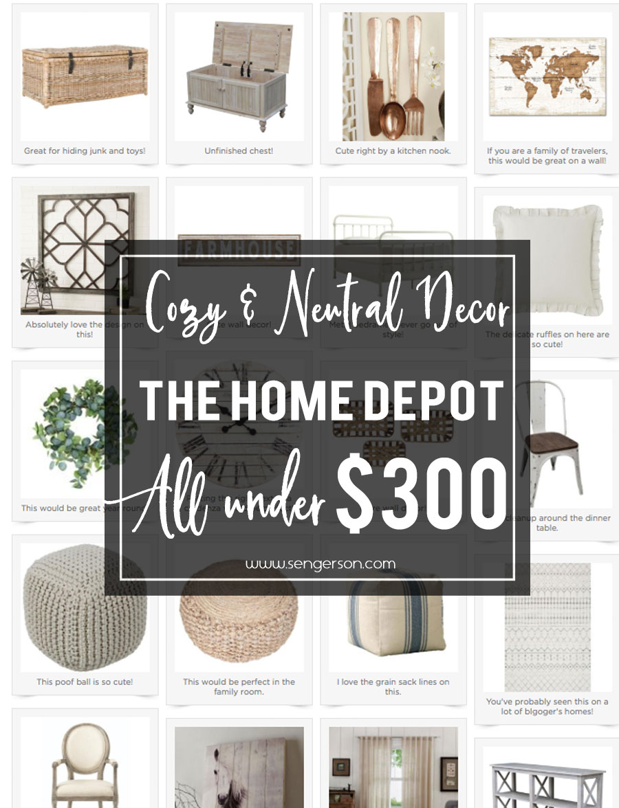 home decor collection from home depot