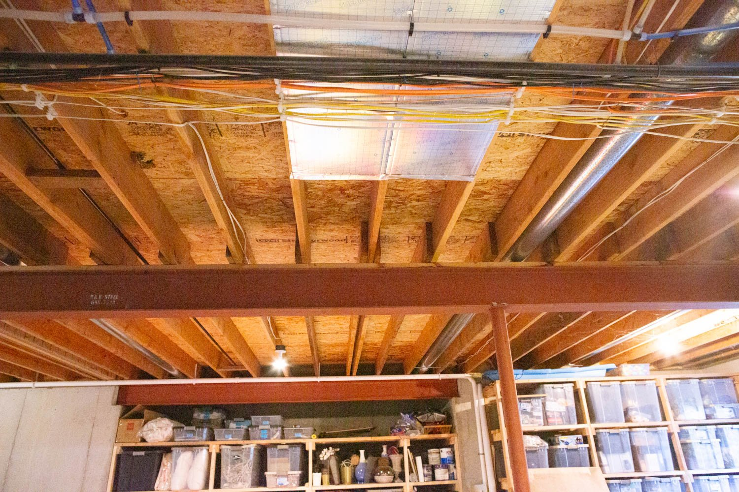 5 Considerations for an Exposed a Basement Ceiling and What
