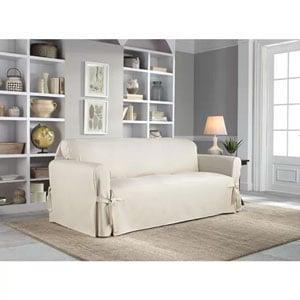 cotton duck t-cushion sofa slipcover