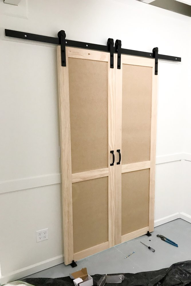 barn door closet diy project